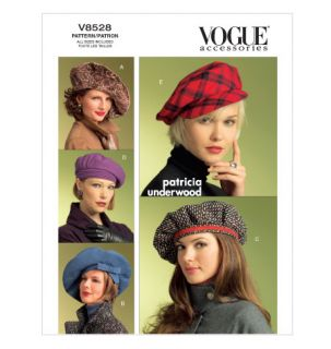 Vogue Womens Hats Fleece Brim Turban Sewing Pattern 4AV