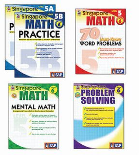 Singapore Math Bundle Grade 6