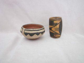 Cochiti Pueblo Pottery Bowl Vase Micaceous Clay CA 1940'S