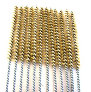 """6 Goliath Industrial 16"""" Brass Wire Tube Cleaning Brush 3 8"""" TB38B Brushes Gun"""
