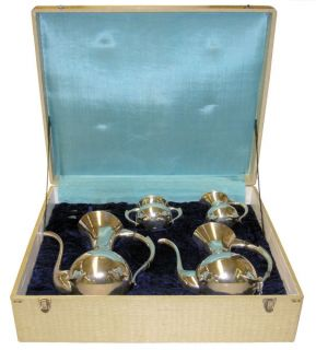 Mid Century Japanese Sterling Silver Tea Coffee Service