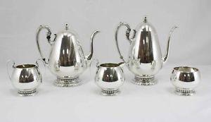 Wallace Sterling Silver Tea Coffee Set 5 Piece