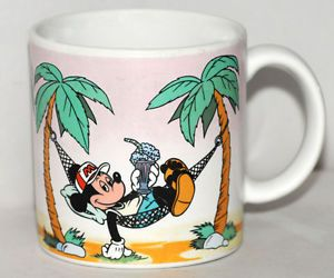 Walt Disney Production Mickey Mouse Mug Coffee Cup Tea Malt Hammock Vintage 1986
