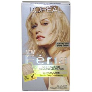 Loreal Feria 91 Champagne Cocktail Hair Color