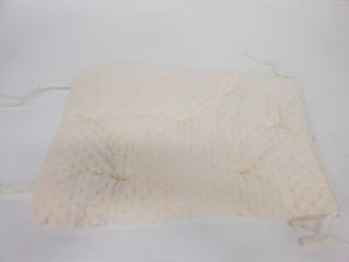 Baby Doll Bedding Soft Adult Rocking Chair Cushion Pad Set Ivory