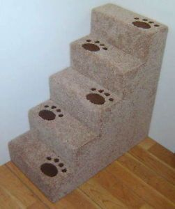"""30"""" Tall Wooden Real Carpet Small Dog Steps or Cat Steps Pet Steps Hand Made"""
