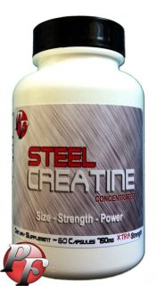 New Steel Creatine HCL Xtreme Bodybuilding Supplements Kre Alkalyn Ethyl Ester