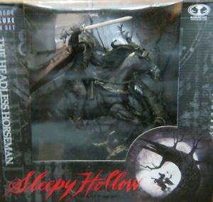 Sleepy Hollow Headless Horseman Figure w Horse Deluxe Box Set McFarlane Toys