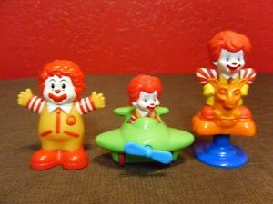 McDonalds 3 Under Ronald McDonalds Toys Three Under Cake Topper Happy Meal