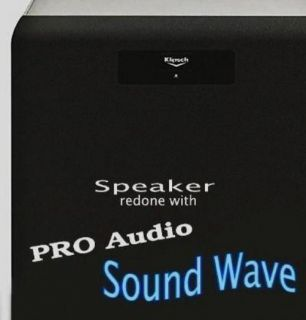 Pro Audio Speaker Grill Cloth Fabric Black Sound Wave