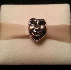 Authentic Pandora 791177 The World's A Stage Bead Comedy Tragedy Mask