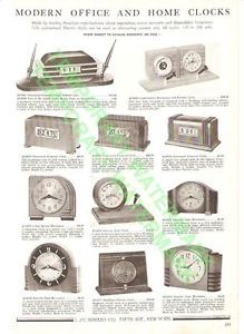 Pennwood Waltham Sessions Office Clocks 1939 Catalog Advertisement