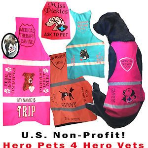 Custom Therapy Service Dog Vest Embroidered Add Your Breed s D No Dogs Name