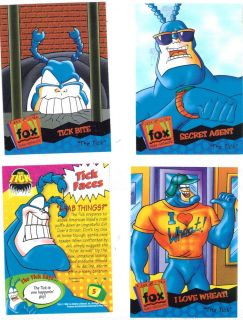 Vintage Cartoons 1990s The Tick Made Into Four Photo Magnets