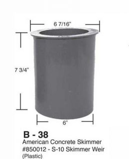 American Products Pool Spa Hot Tub Floating Skimmer Weir Basket 850012 New