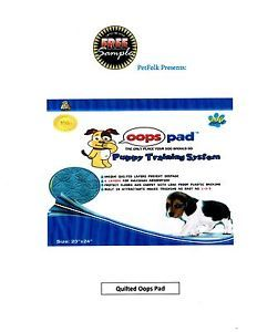"""Oops Pad Puppy Training Pads Quilted 200ct Unscented 23x24"""" Free Samples"""
