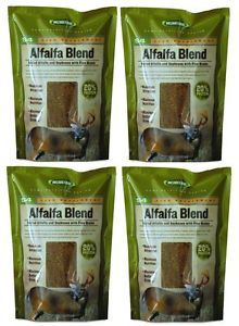 4 Moultrie MFHS4 Alfalfa Blend Deer Feeder Packages Protein Vitamins Minerals