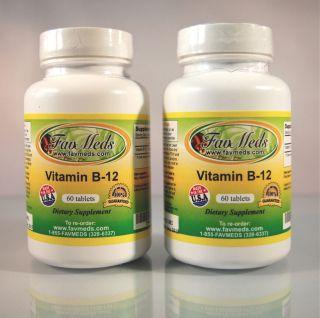 Vitamin B 12 B12 Cobalamins Anemia Dementia Heart 120 2x60 Tablets