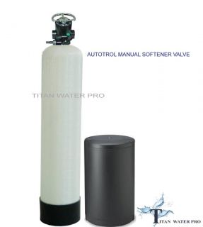 Whole House Water Softener 32K 1 CU ft CAT100E Resin NSF Manual Valve