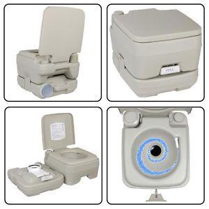 2 8 Gallon Portable Outdoor Camp Toilet Travel Camping Potty