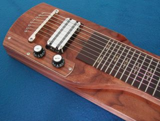 Lap Steel Guitar 8 String Console Slide Steel Guitar Walnut Georgeboards 006