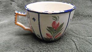 HB Henriot Quimper Very Vintage Tea Coffee Cup France Pottery