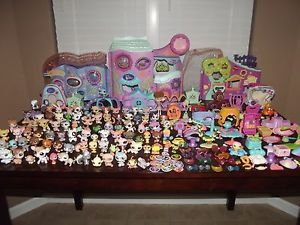 Littlest Pet Shop Big Lot Fitness Center Club Play Houses Case 123 Acc 91 Pets