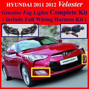 2011 2012 Hyundai Veloster Fog Light Lamp Complete Kit Wiring Harness Kit