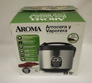Aroma 10 Cup Uncooked 20 Cup Cooked Digital Rice Cooker Food Steamer Arc 150SB
