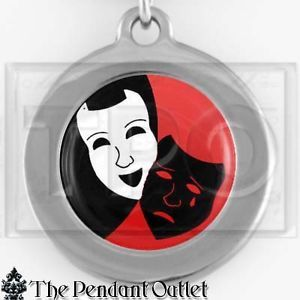 Comedy Tragedy Drama Masks Actor Theatre Theater Actress thespian Charm Keychain