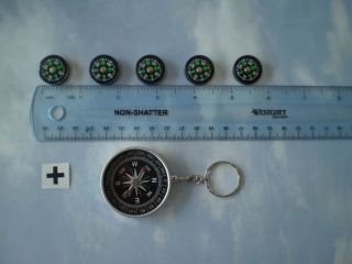 """5 Pieces New 3 4"""" Small Mini Compasses for Travel Navigation Directions Etc"""