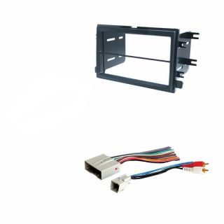 Double DIN Dash Radio Stereo Install Kit Wire Harness