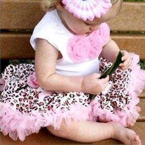 2pcs Baby Girl Kids Top Skirt Dress Costume Tutu Leopard Clothes 3 4T TYA8P L
