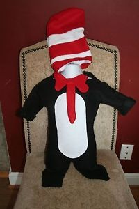 Baby Cat in The Hat Homemade Costume Infant