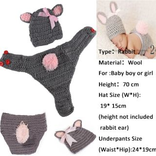 Newborn Baby Girl Boy Crochet Knit Clothes Costume Photo Photography Prop Outfit
