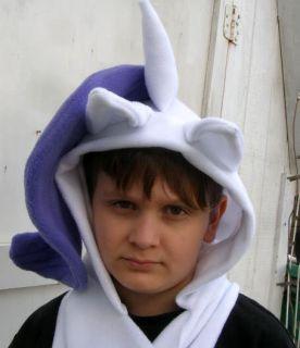 My Little Pony Custom Plush Hoodie Scarf Meme Rarity Hat Hood MLP FIM Costume