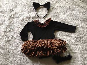 Toddler Girls Kitty Cat Leopard Cheetah Halloween Costume Dress 12 24 Months