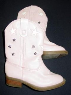 Toddler Girls Xhilaration Pink Cowboy Cowgirl Boots Costume 8