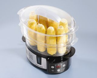 New Healthy Compact 2 Tier Electric Digital Food Vegetable Fish Steamer Cooker