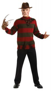 Freddy Krueger Deluxe Sweater Costume Adult XXL Plus Sz