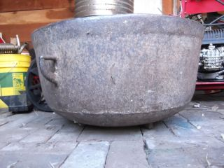 Large Cast Iron Boiler Cooking Kettle