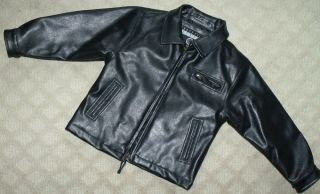 Toddler Black Faux Leather Jacket Halloween 50s Greaser Biker Motorcycle Costume