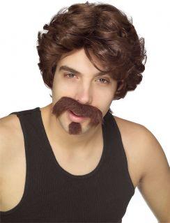 70's 80's Porn Star John Holmes Pimp Wig Mustache Costume