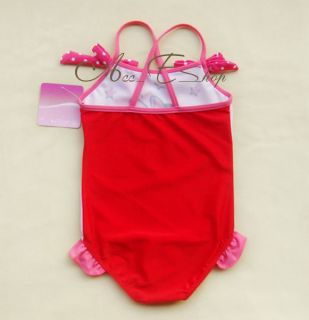 Minnie Mouse One Piece Girls Baby Swimsuit Swimwear Bathing Suit Tankini Sz 2 8Y
