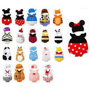 0 12M Baby Toddler Boy Girl Cute Cartoon Character Dress Up Costume Hat Set