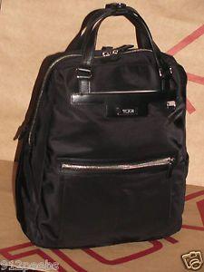 Tumi Ascot Voyageur Convertible Laptop Backpack Tote Black Nylon Leather 481759