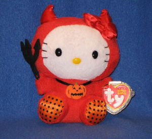 Ty Hello Kitty Beanie Baby in Red Devil Costume Mint with Mint Tags
