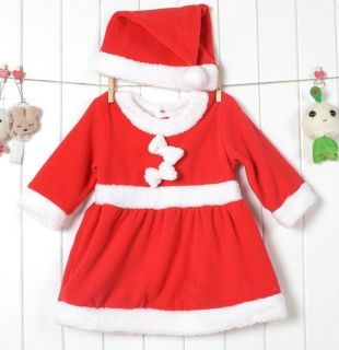 Baby Boys Girls Christms Xmas Santas Party Suit Costume Dress Outfit Gift 6 24M