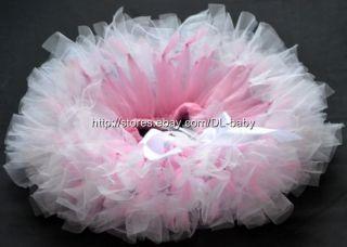 Pink White Party Costume Ballet Kids Dancing Girl Toddler Baby Tutu Skirt 0 5T
