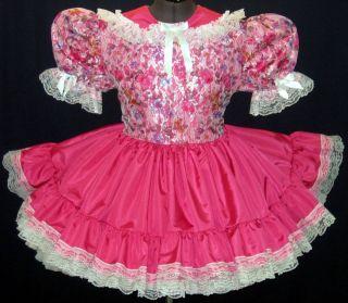 Taffeta Lace Adult Baby Sissy Dress Leanne